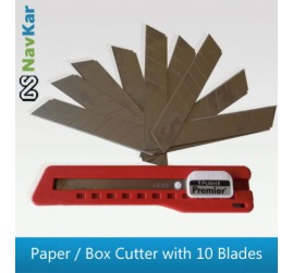 Heavy Duty Paper / Box Cutter Knife with High Quality 10 Blades