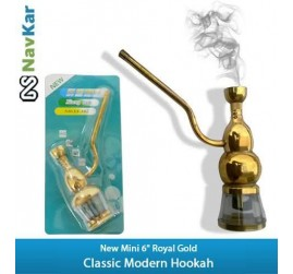 "New Mini 6"" Classic Royal Golden Portable Hookah"