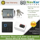 Stainless Steel Electronic Door Lock NSEL-390 with Lock Control Device KP12 & Power Supply