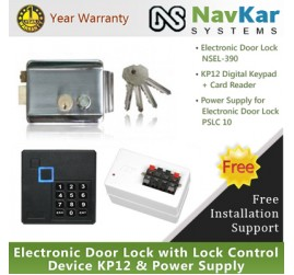 Stainless Steel Electronic Door Lock Nsel 390 With Lock
