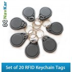 Set of 20 RFID Smart Keychain Tags for Time Attendance or Access Control System