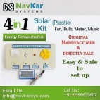 NAVKAR Solar Energy Demonstration Kit & Educational Kit 4 in 1 (Plastic)