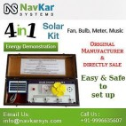 NAVKAR Solar Energy Demonstration Kit & Educational Kit 4 in 1 (in Wooden)