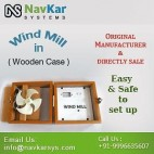 NAVKAR Wind Mill (Wooden) | Wooden Wind Mill Model | Solar Educational Kits