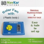 NAVKAR Solar Fan (Plastic) | Solar Powered Fan | Solar Educational Kits