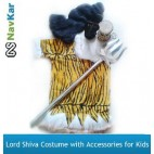 NAVKAR Lord Shiv Shanker Costume for Kids Fancy Dress Competition & Shivratri ( 8-10 Yrs)