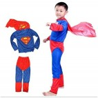 NAVKAR Superman Costume Fancy Dress Outfit Suit Mask Children (7-8) / Superman Kids Costume Wear/ Birthday Party fancy Dress
