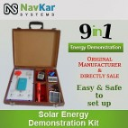 NAVKAR Solar Energy Demonstration Kit & Educational Kit 9 in 1 (in Wooden)