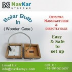 NAVKAR Solar Bulb (Wooden) | Solar Powered Bulb | Solar Educational Kits