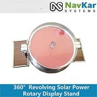 NAVKAR Solar Powered 360 Degree Revolving Rotary Display Stand