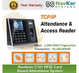 REALTIME C110T ECO SERIES BIOMETRIC + RFID CARD BASED ATTENDANCE SYSTEM WITH TCP/IP & SOFTWARE
