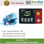 Realtime T11 Color Screen Attendance Recorder
