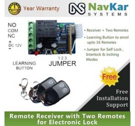 Receiver + Two Remotes for Electronic Lock - UW C100 with UR 070 (Lock Control Devices)