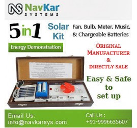 Solar Energy Demonstration Kit & Educational Kit 5 in 1 (in Wooden)