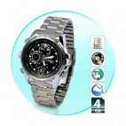 4GB WaterProof Mini HD Steel Wrist Watch Spy Camera Hidden Video Camcorder DVR