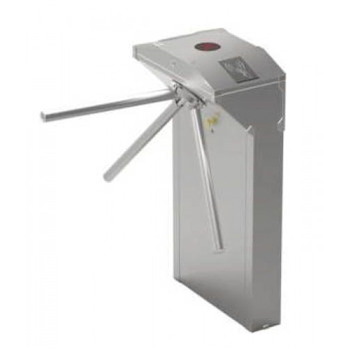 Semi automatic bi directional vertical tripod turnstile