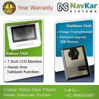 "Video Door Phone | Doorbell Home Intercom System with 7"" Coloured LCD Monitor"