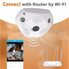 3D VR Camera WiFi 360 Panoramic CCTV IP Camera